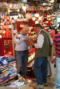 Shoppers explore the maze of the grand bazaa istanbul may bazaar kapali carsi in istanbul turkey Stock Photos
