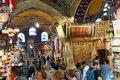 Shoppers explore the maze of the grand bazaa istanbul may bazaar kapali carsi in istanbul turkey Stock Photography