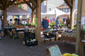 Shoppers at a Local Farmers Market Royalty Free Stock Photo