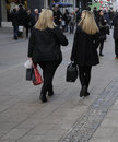 SHOPPERS  READY FOR AMERICAN BLACK FRIDAY IN DENMARK Royalty Free Stock Photo