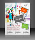 Shoppind flyer magazine cover poster template Stock Photography