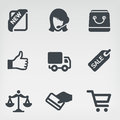 Shopping 1 icon set Royalty Free Stock Images