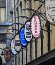 Shopping arcade degraves lane in melbourne Stock Photos