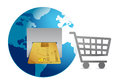 Shopping around the world concept Stock Photo