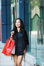 Shopping asian women Royalty Free Stock Photo