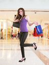 Shopping an attractive young lady out Royalty Free Stock Photos
