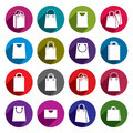 Shopping back icons vector set, shopping theme Royalty Free Stock Photo
