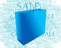 Shopping bag blue Royalty Free Stock Photography
