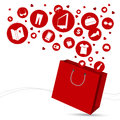 Shopping bag and fashion icon Royalty Free Stock Photo