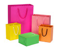 Shopping bag gift bag isolated on white Stock Image