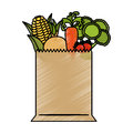 Shopping bag with grocery