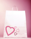 Shopping bag with heart Stock Photo