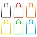 Shopping bag icons set Royalty Free Stock Photo