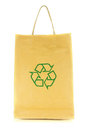 Shopping bag with recycle symbol isolated on white background Royalty Free Stock Photo