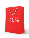 Shopping Bag (sale -10) Royalty Free Stock Photo