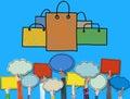 Shopping Bag Sale Capitalism Shopaholic Concept Royalty Free Stock Photo