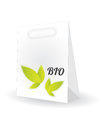 Shopping bag with special natural design Stock Images