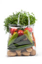 Shopping Bag With Vegetables Royalty Free Stock Photo