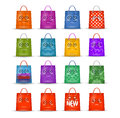 Shopping bags authors illustration in vector Stock Image