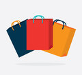 Shopping bags design over white background vector illustration Stock Photos