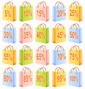 Shopping bags and discount Royalty Free Stock Photography