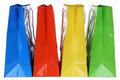 Shopping bags isolated colorful on a white background Royalty Free Stock Photos