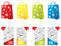 Shopping bags and price tags Royalty Free Stock Photography