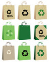 Shopping bags recycle Stock Photo