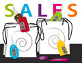 Shopping bags sales concept illustration Stock Image