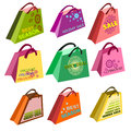 Shopping bags Set Royalty Free Stock Photo