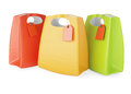 Shopping bags on white background Stock Photo
