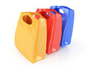 Shopping bags on white background d render Stock Image