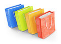 Shopping bags on white background d rendered image Royalty Free Stock Image