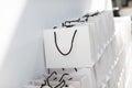Image : Shopping bags afro caucasian giant