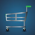 Shopping basket colorful illustration with for your design Stock Photos