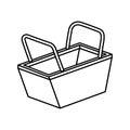 Shopping basket isolated icon