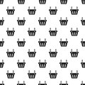 Shopping basket pattern, simple style