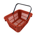 Shopping basket red on a white background Royalty Free Stock Images