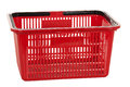 Shopping basket a red on a white background Royalty Free Stock Photo