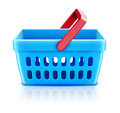 Shopping basket set Stock Image