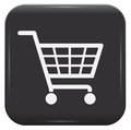 Shopping basket sign black and white eps Royalty Free Stock Photography
