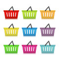 Shopping baskets basket icons on white background Royalty Free Stock Photography