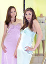 Shopping: Beautiful young women posing Royalty Free Stock Images