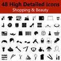 Shopping and Beauty Smooth Icons Royalty Free Stock Photo