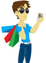 Shopping boy solo Royalty Free Stock Photography
