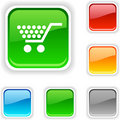 Shopping  button. Royalty Free Stock Photo