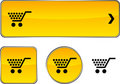 Shopping  button set. Stock Image
