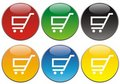 Shopping Buttons or Icons Stock Image