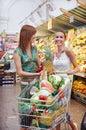Photo : Shopping cart pastel credit