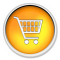 Shopping cart, button, icon, web icon, e-buy, web button Royalty Free Stock Photo